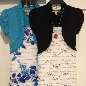 2 Girls Dresses with Necklaces